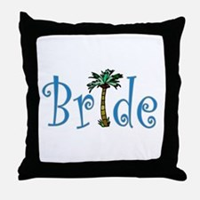 Bride with Palm Throw Pillow