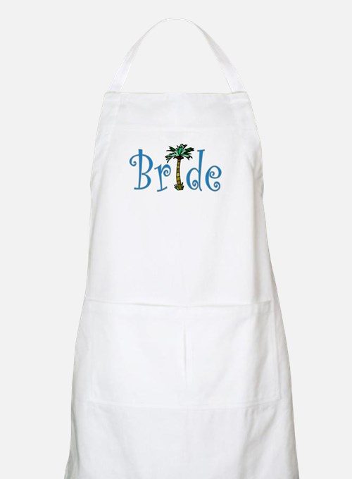 Bride with Palm BBQ Apron
