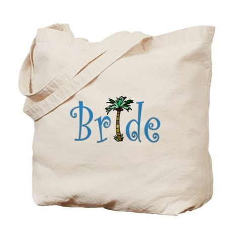 Bride with Palm Tote Bag