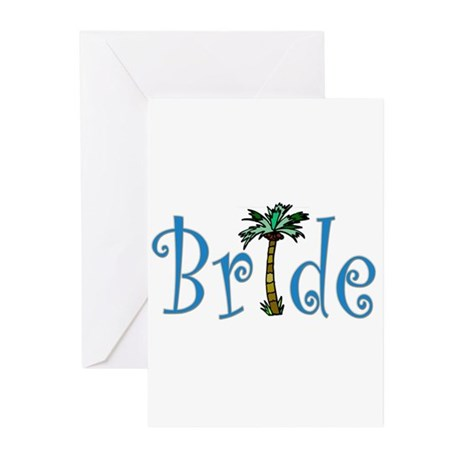 Bride with Palm Greeting Cards (Pk of 10)