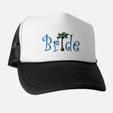 Bride with Palm Trucker Hat