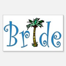 Bride with Palm Rectangle Decal