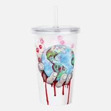 Global Destruction Acrylic Double-wall Tumbler