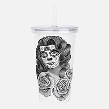 Rita and Roses Acrylic Double-wall Tumbler