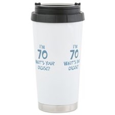 Unique Seventieth birthday Travel Mug