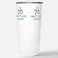 Cute Funny 70th birthday Travel Mug