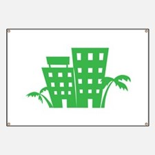 Palms & Buildings Banner
