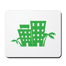 Palms & Buildings Mousepad