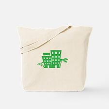 Palms & Buildings Tote Bag