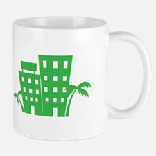 Palms & Buildings Mugs