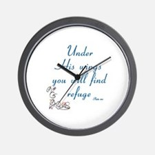UNDER HIS WINGS YOU WILL FIND REFUGE -  Wall Clock