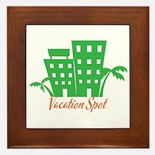 Vacation Spot Framed Tile