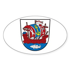 Bremerhafen Coat of Arms Oval Decal