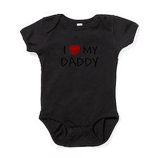 Unique I love my daddy Baby Bodysuit