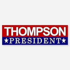 Thompson President Red & White Bumper Bumper Bumper Sticker