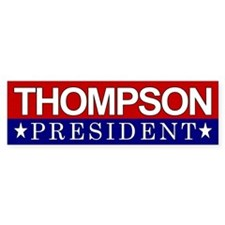 Thompson President Red & White Bumper Bumper Sticker
