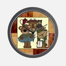 CABIN BEARS Wall Clock