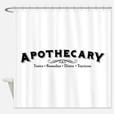 Cute Typography Shower Curtain