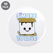 """S'more to Love 3.5"""" Button (10 pack)"""