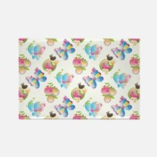 BIRDS & BUTTERFLIES Rectangle Magnet