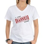 Banned Books Women's V-Neck T-Shirt