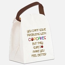YOU CAN'T SOLVE PROBLEMS WITH CUP Canvas Lunch Bag
