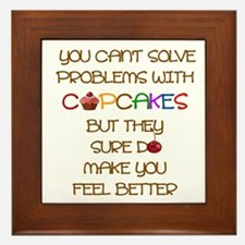 YOU CAN'T SOLVE PROBLEMS WITH CUPCAKES Framed Tile