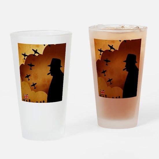 W. Churchilll at WW2 Drinking Glass