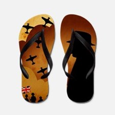 W. Churchilll at WW2 Flip Flops