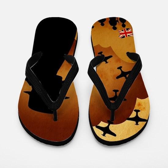 W. Churchilll at WW2 Flip Flops