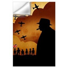 W. Churchilll at WW2 Wall Decal