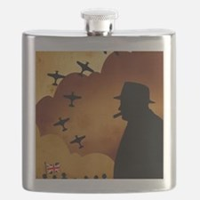 W. Churchilll at WW2 Flask