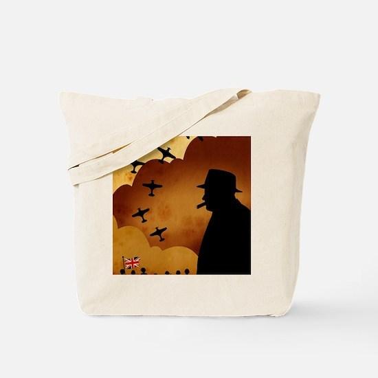 W. Churchilll at WW2 Tote Bag