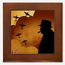 W. Churchilll at WW2 Framed Tile