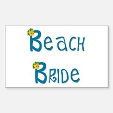 Beach Bride Rectangle Decal