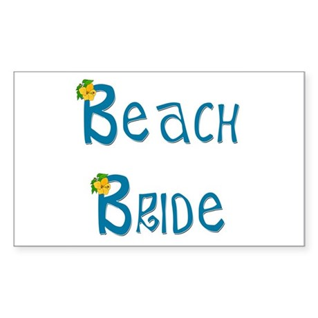 Beach Bride Rectangle Sticker