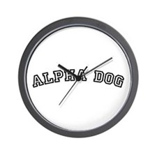 Alpha Dog Wall Clock