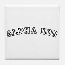 Alpha Dog Tile Coaster