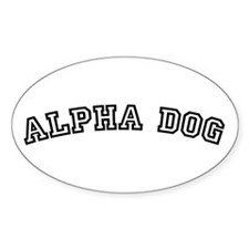 Alpha Dog Oval Decal
