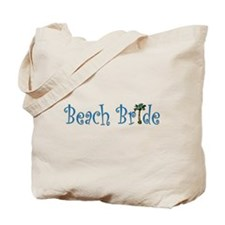 Beach Bride Palm Tote Bag