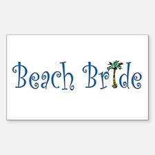 Beach Bride Palm Rectangle Decal