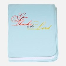 Give Thanks to the Lord baby blanket