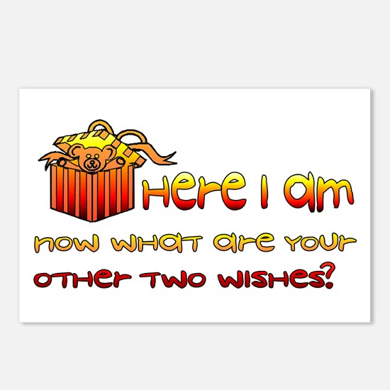 Here I Am Now What Are Other Two Wishes Postcards
