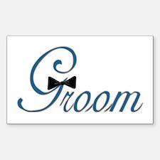 Elegant Groom Bow Tie Rectangle Decal