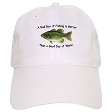 Bad Day Fishing Bass Baseball Cap