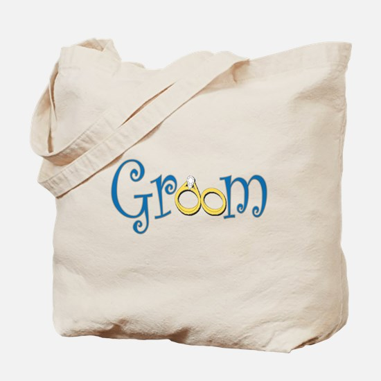 Groom Wedding Rings Tote Bag