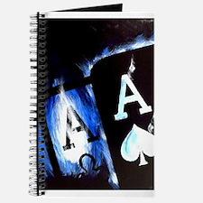 Blue Flame Pocket Aces Poker Journal