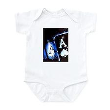 Blue Flame Pocket Aces Poker Infant Bodysuit
