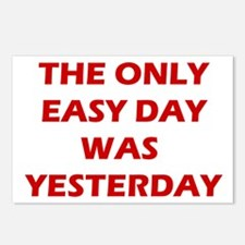 The Only Easy Day was Yesterday Quote Postcards (P