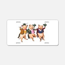 Three Little Pigs Aluminum License Plate